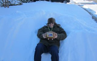 Conch Radio Coconut in the snow!